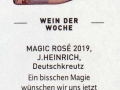 Kurier Freizeit - Magic Rosé 2019 - Weingut Silvia Heinrich