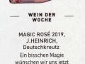 Kurier Freizeit - Magic Rosé 2019 - Weingut Silvia Heinrich